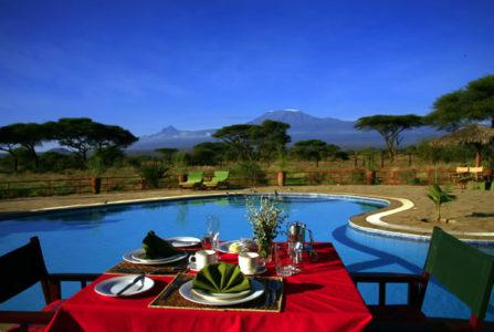 Kibo Safari Camp Pool Dinner